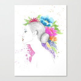 Tropical Queen Canvas Print