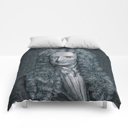 Gravity / Vintage portrait of Sir Isaac Newton Comforters