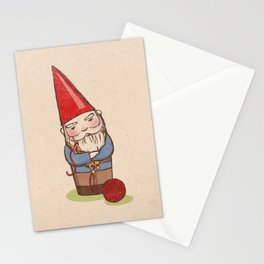 Knitting Gnome Stationery Cards