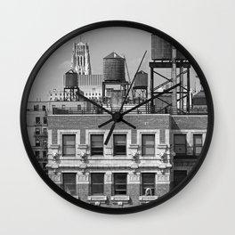 New York City Rooftops Wall Clock