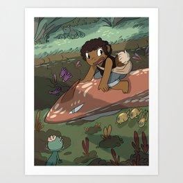 River Ride Art Print