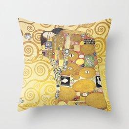 Gustav Klimt - Tree of Life (detail) 1909 Throw Pillow