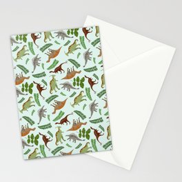 Dinosaurs & Leaves Stationery Cards