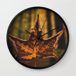 leafe Wall Clock