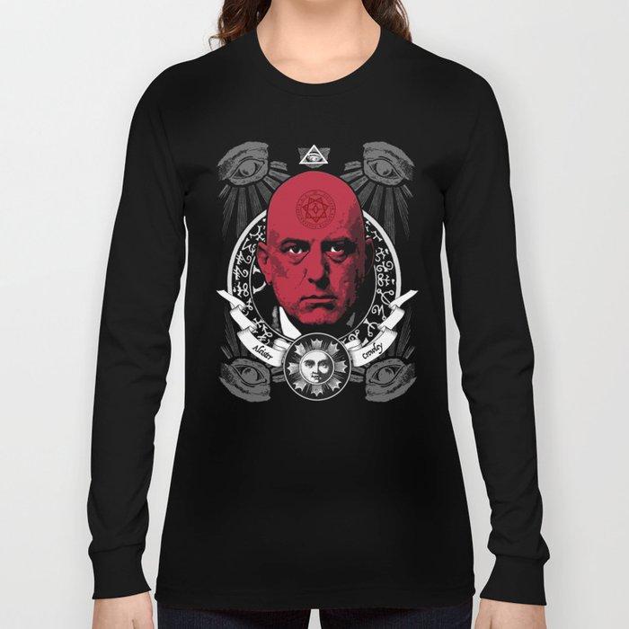 Aleister Crowley T-Shirts by LosFutbolko Long Sleeve T-shirt