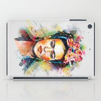 woman iPad Cases featuring Frida Kahlo by Tracie Andrews