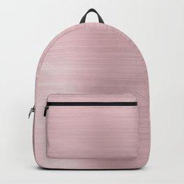Elegant blush rose pink meatallic gradient Backpack