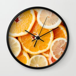 BUNCH OF SLICED CITRIC FRUITS Wall Clock