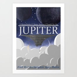 Jupiter Cloud City Art Print