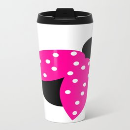 Pink Ladybug Metal Travel Mug