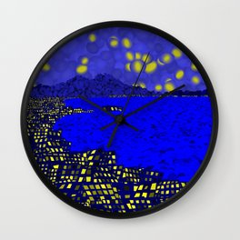 Starry Naples Wall Clock