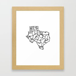 Texas Strong Framed Art Print