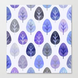 Watercolor Forest Pattern #5 Canvas Print