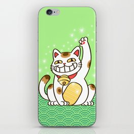 Winners Are Grinners (Lucky Cat) iPhone Skin
