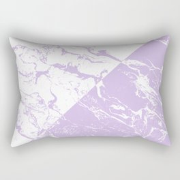 modern color block inverted white purple lavender marble pattern Rectangular Pillow