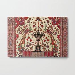 Farahan Arak Antique Persian Rug Metal Print