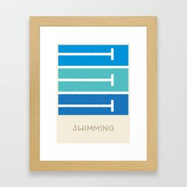 Swimming (Sports Surfaces Series, No. 21) Framed Art Print