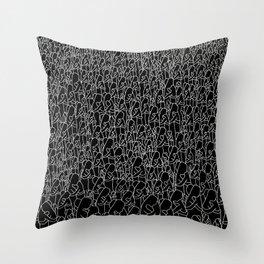 Hug black Throw Pillow