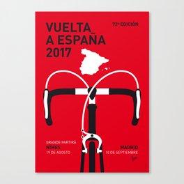 MY VUELTA A ESPANA MINIMAL POSTER 2017 Canvas Print