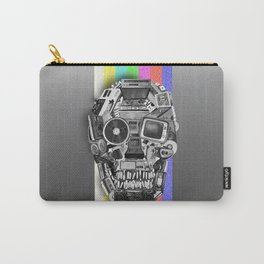 retro tech skull 3 Carry-All Pouch