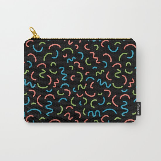 memphis squiggles modern minimal abstract pattern trendy gifts Carry-All Pouch