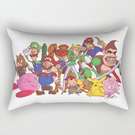 Super Smash Bros Rectangular Pillow
