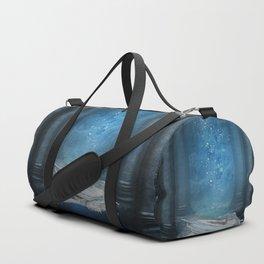 Awesome sleeping ice dragon Duffle Bag