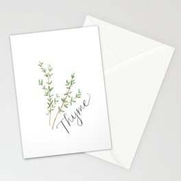 Thyme Illustration Stationery Cards