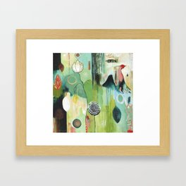 """""""Fly Home"""" Original Painting by Flora Bowley Framed Art Print"""