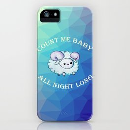 Count me baby iPhone Case