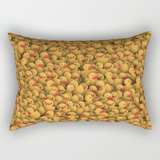 Yellow rubber ducks Rectangular Pillow