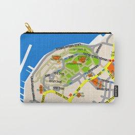 Tel Aviv Jaffa map design - written in Hebrew 2  Carry-All Pouch