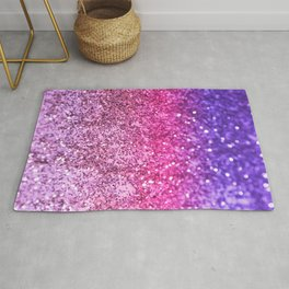 Unicorn Girls Glitter #3 #shiny #decor #art #society6 Rug