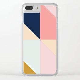 Geometric Pattern IX Clear iPhone Case