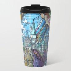 Hogwarts stained glass style Travel Mug