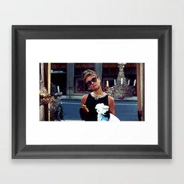 Audrey Hepburn #3 @ Breakfast at Tiffany's Framed Art Print