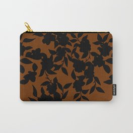 Classy Floral Brown Carry-All Pouch
