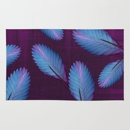 Tillandsia in dark purple Rug