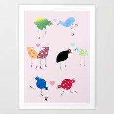 Birds in love Art Print