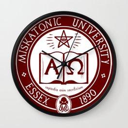Miskatonic University in Crimson Wall Clock