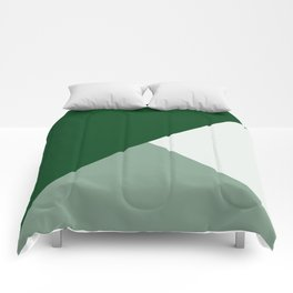 Trinity Color Block Forest Green 08441C Comforters