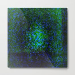 Abstract blue and green Metal Print