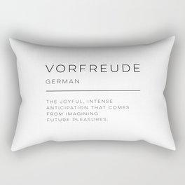 Vorfreude Definition Rectangular Pillow