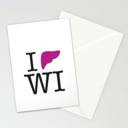 I Liver Wisconsin Stationery Cards