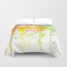 Rainbow Watercolor Pattern Texture Duvet Cover