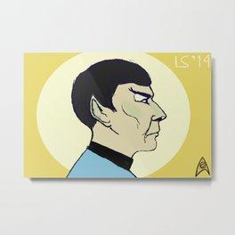Mr. Spock Idol Metal Print