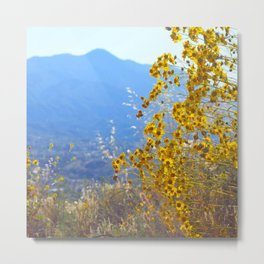 Mountain Blossoms Metal Print