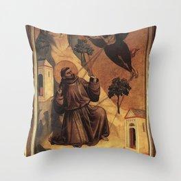 Giotto di Bondone - Stigmata of St Francis Throw Pillow