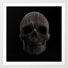 Skull Stripes 3 Art Print