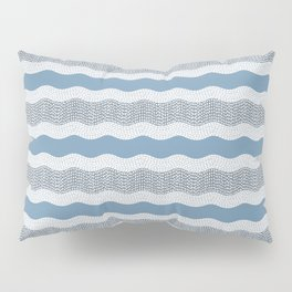 Wavy River in Blue and Gray 1 Pillow Sham